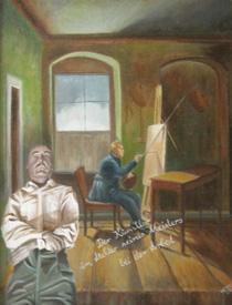 Der Künstler im Atelier seines Meisters bei der Arbeit
